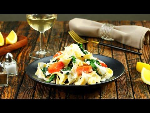 pâtes-crémeuses-au-saumon-et-épinard-:-tellement-meilleur-frais-!