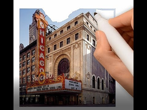 Chicago Theater Painting - Using VideoScribe to turn images into drawings