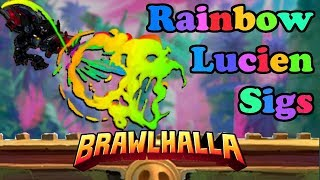 Mods Showcase! ► Lucien Rainbow Sigs + MORE! • Brawlhalla