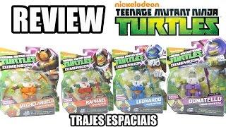 review das tartarugas ninja com roupas espaciais coleo dimension x nickelodeon