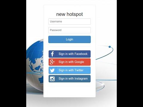 [English version] How to setup hotspot social login with cloud-hotspot com
