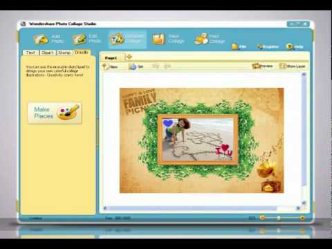 Digital Scrapbooking Software Video Tutorial Photo Collage Maker