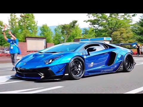 【大迫力サウンド!!】ド派手カスタムスーパーカー達が目の前を爆音加速で搬出!!【1080p/60fps】/Custom supercars sound!!LB works Lamborghinis