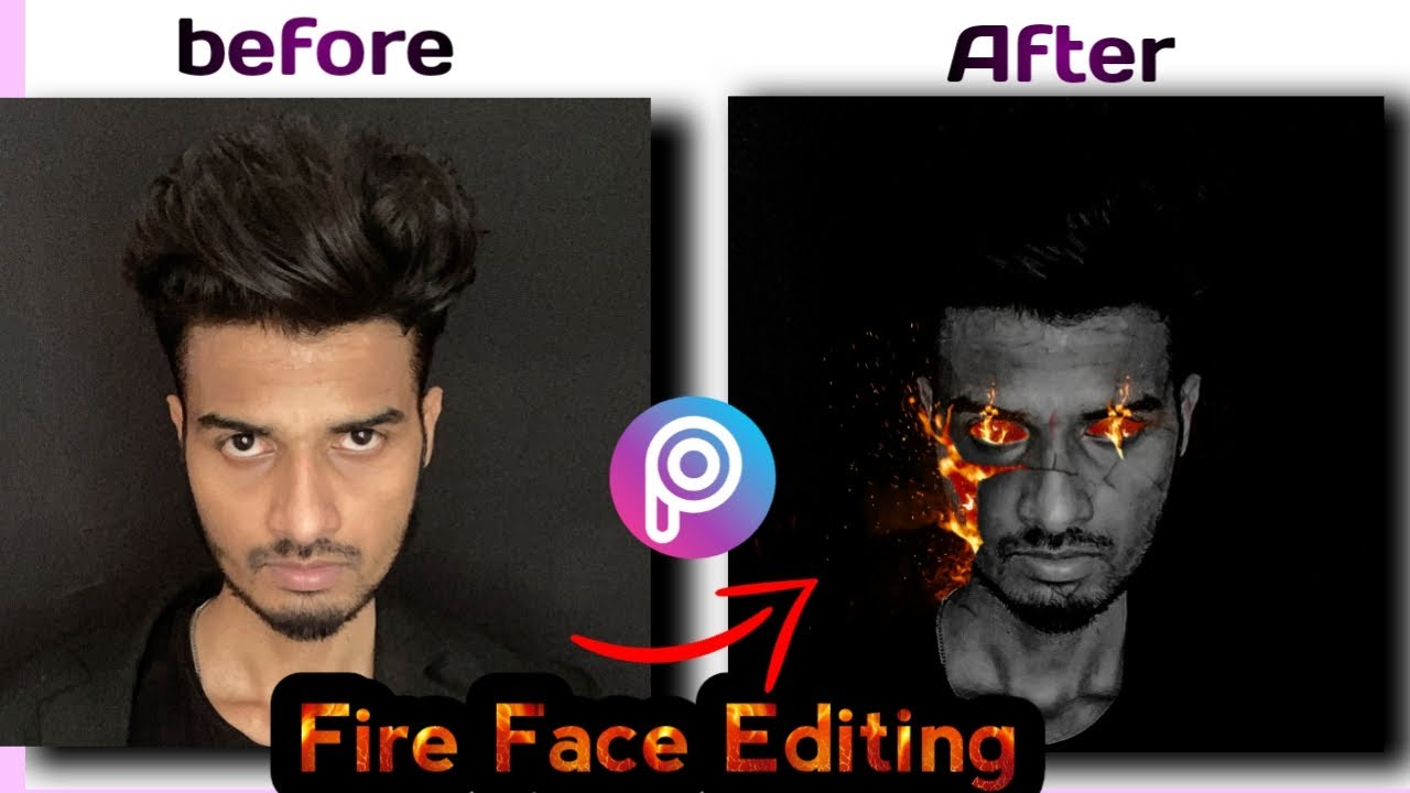 Fire Face Editing PicsArt | burning photo Editing | PicsArt photo editing tutorial