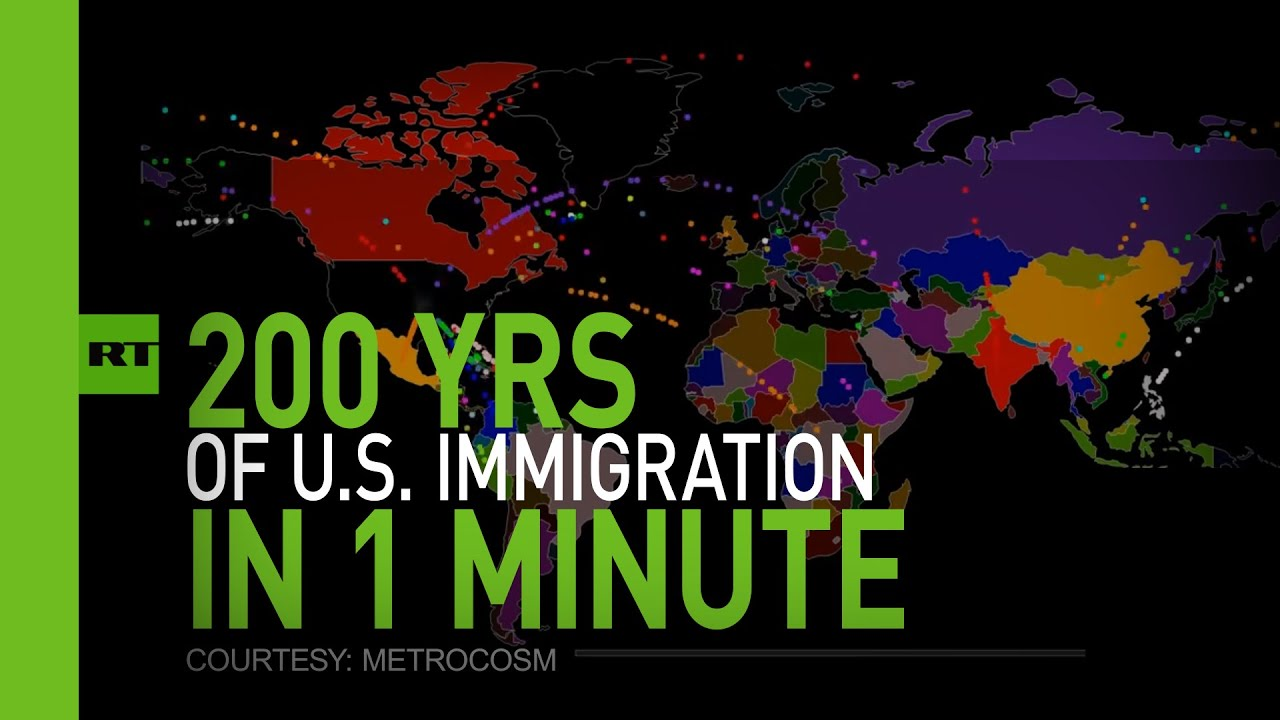 Animated Map Shows Two Centuries Of US Immigration Boing Boing - Animated map of immigrants to us
