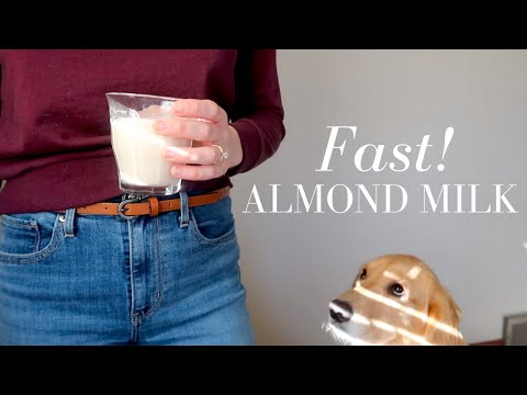 How to Make Almond Milk FAST (No Soaking Dairy-Free Nut Milk)