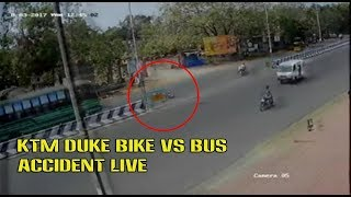 Shocking KTM duke bike vs Bus Accident In Mumbai Caught live CCTV- Dont Break traffic rules