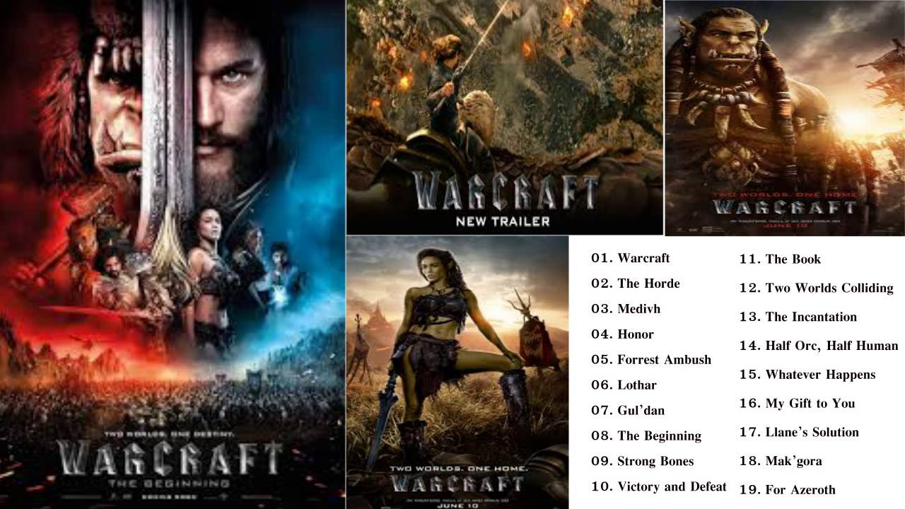 warcraft movie soundtrack 2016 tracklist release date youtube
