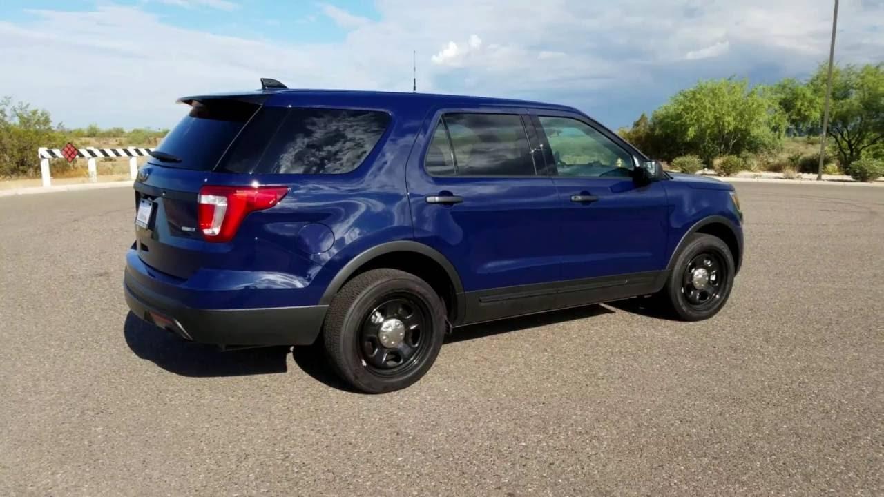 Ford Police Interceptor Makes Blue a Little More Green  |Blue Ford Interceptor