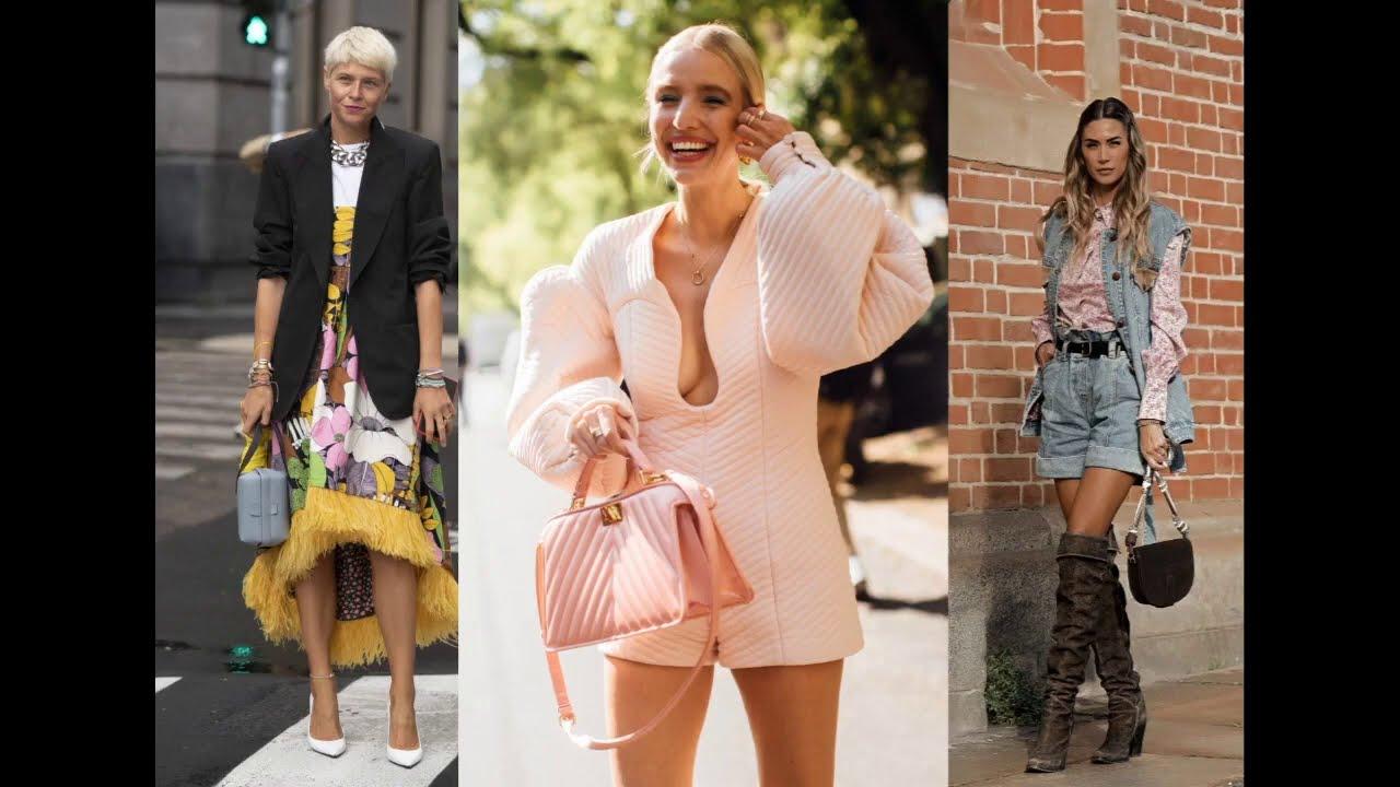 Самые интересные уличные луки из недели моды весна-лето 2021 в Италии (Милан).
