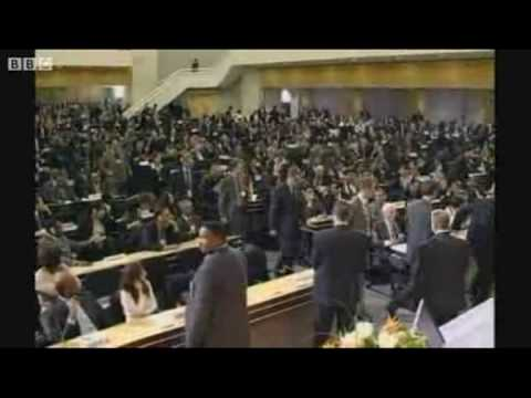 "UN Walkout as Ahmadinejad claims ""Israel is a racist government"""