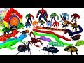 RC 거미 개미 뱀 벌레 곤충 애니멀 공룡 마블 헐크 장난감을 상자에 넣기