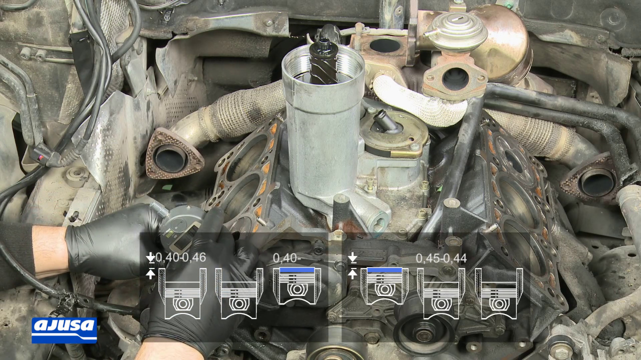 cylinder head gasket junta de culata audi a6 2 5 tdi v6 24v aym youtube. Black Bedroom Furniture Sets. Home Design Ideas