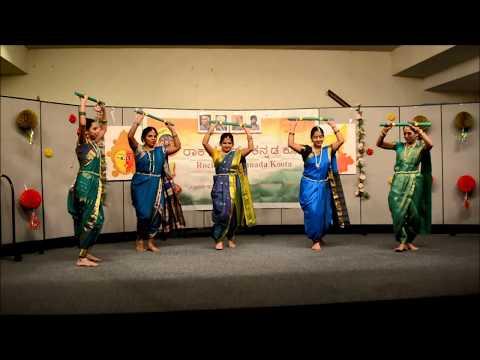 Kannada Folk Dance Jalle Kabbu  Kannada Rajyotsava  Janapada Song