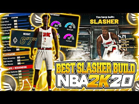 *NEW* BEST SLASHER BUILD ON NBA 2K20! MOST OVERPOWERED BUILD IN THE GAME! BECOME A DEMIGOD!