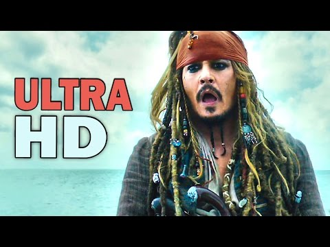 PIRATES OF THE CARIBBEAN 5 - ALL Trailers Compilation [Ultra HD 4K, 2017)