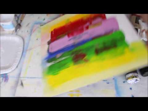 Acrylmalen Abstract Painting Einfaches Acrylbild Mit