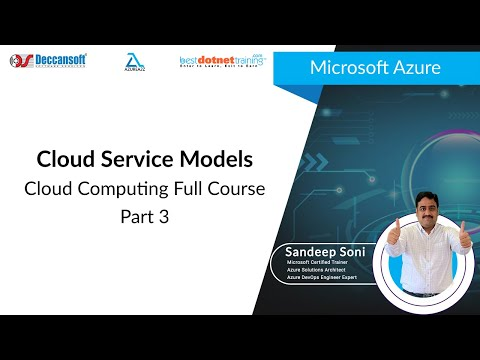Cloud Computing Tutorial for Beginners - 3 | Cloud Service Models | Microsoft Azure