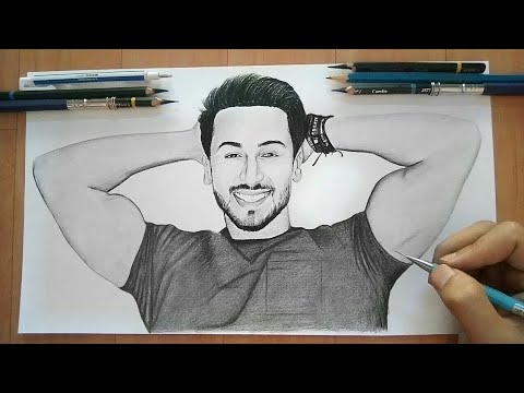 Drawing Tiger Shroff Showing His Biceps Youtube
