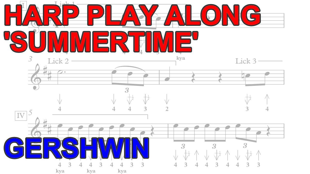 Harmonica Play Along 'Summertime' + free harp tab and backing track!