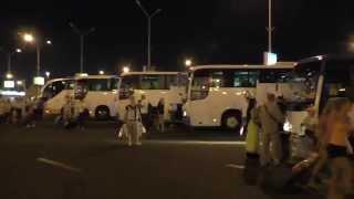 Трансфер Аэропорт Хургада - отель(Посадка пассажиров прилетевших из Москвы в автобусы до отелей. Мы летели от тур-оператора Библио-глобус., 2014-07-22T09:54:07.000Z)