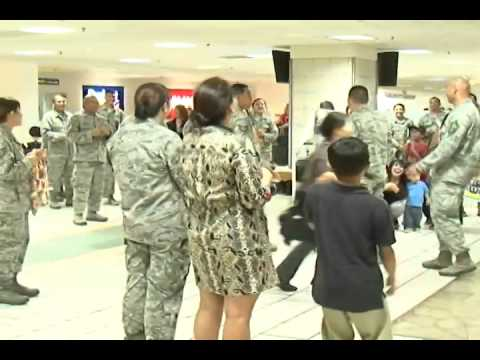 VIDEO: Hero's Welcome Home for Final 5 Guam Air Guard Members