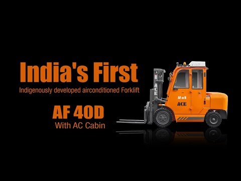ACE Introduce India's First Forklift With AC Cabin