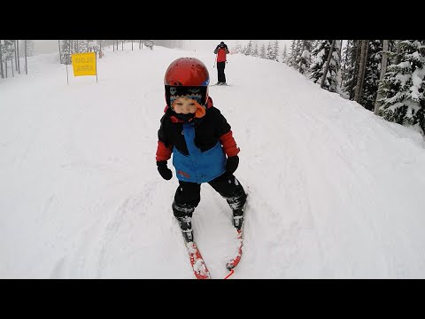 3 year old  first time skiing