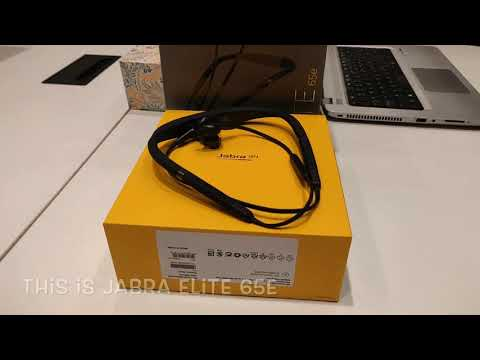 Jabra Elite 65E wireless Bluetooth headphone unboxing and quick review.