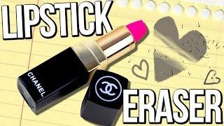 DIY CHANEL Lipstick ERASER!