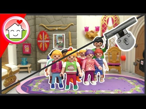 Playmobil Film Familie Hauser - Schlosszimmer Escape Room - Schulausflug Mit Lena - Video Für Kinder