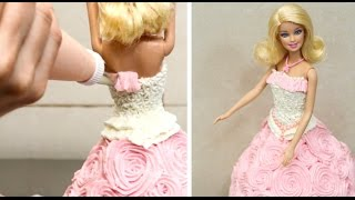 How To Decorate A Barbie Doll Cake - Buttercream Decorating