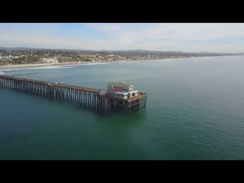 Drone Flight over Oceanside Pier