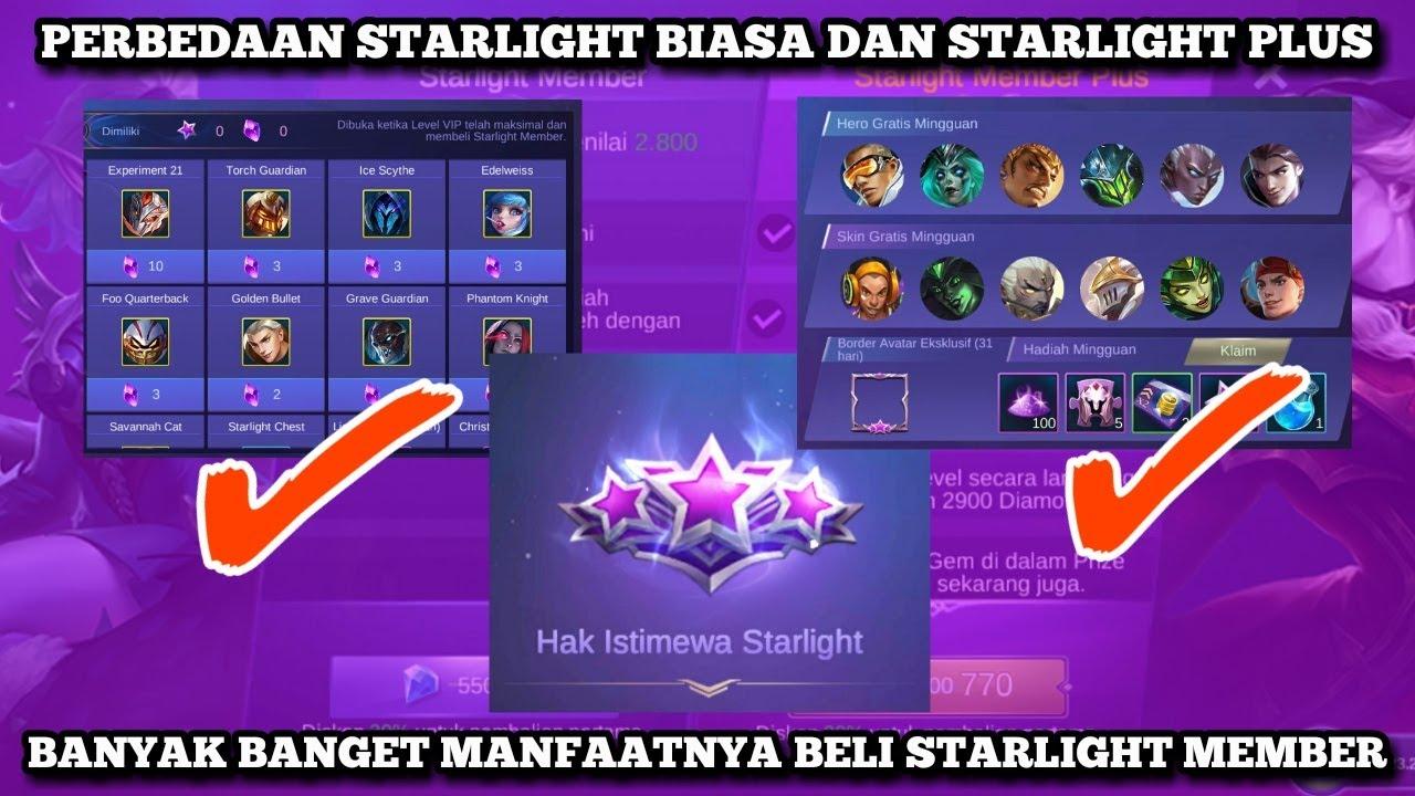 Perbedaan Starlight Member Dan Starlight Member Plus Skin Gratis Lagi Youtube