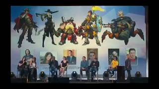 #BlizzCon2018: Overwatch voice actors panel doing his lines Blizzcon 2018