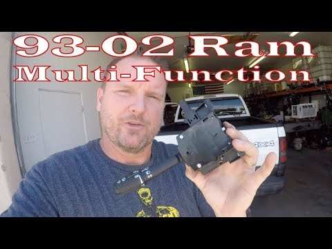 Dodge Ram 1500 Multi-function Switch Replacement (combination switch) DIY 1993-2002