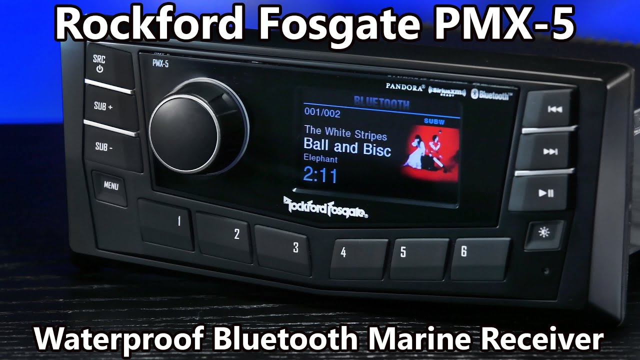 Rockford Fosgate Pmx-5 Waterproof Bluetooth Radio