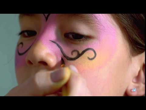 Carnival Mask Face Paint Tutorial | Snazaroo
