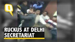 Fight Between AAP Minister's Aide and Unidentified People at Delhi Secretariat | The Quint