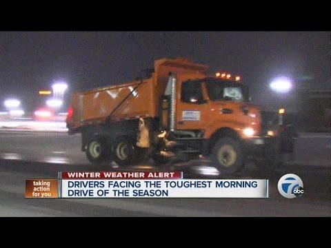 Winter storm headed toward metro Detroit