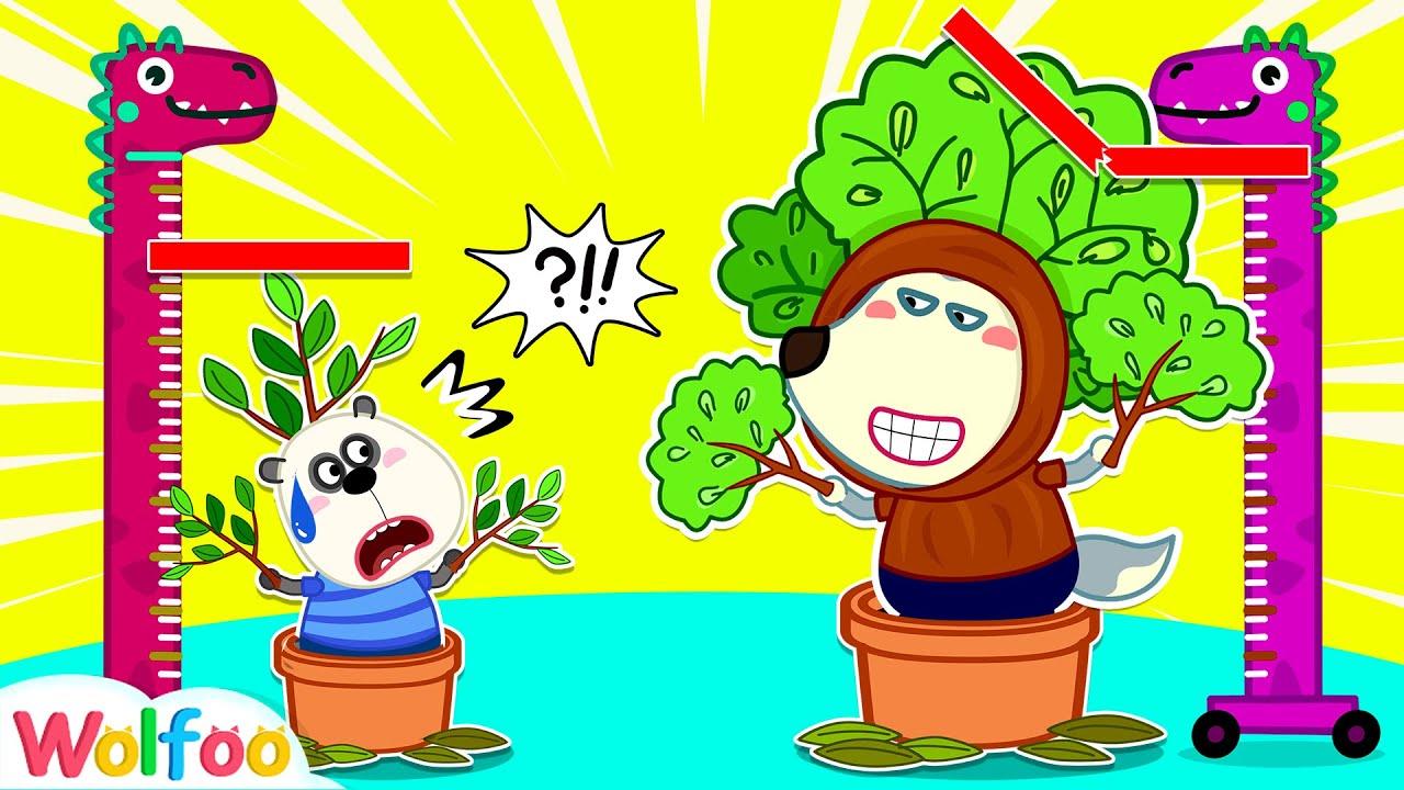 Wolfoo Wants To Be Taller with DIY Tree Costume | Wolfoo Family Kids Cartoon