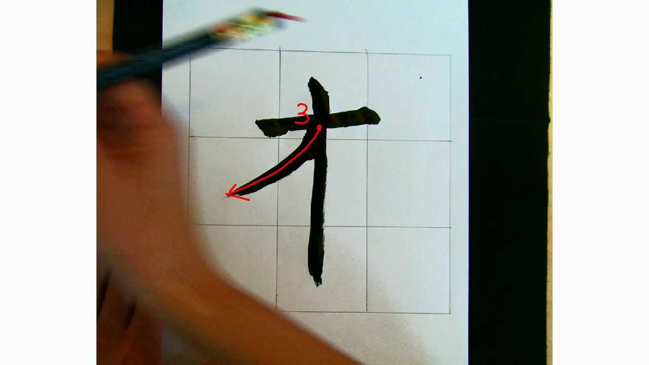 Elmo lesson how to draw the chinese symbol japanese for Wood in chinese