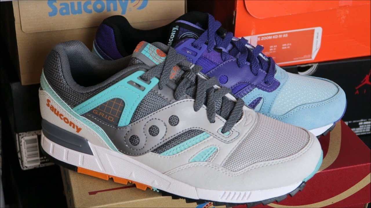 dbcf3928dd09 Saucony Originals Grid SD Teal Sneakers - YouTube