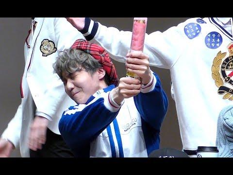 """190421 펜타곤(PENTAGON) 진호 """"무서워하는 진호"""" 홍대팬싸 직캠 JINHO Focus"""