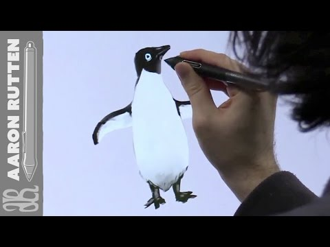 Penguin Digital Art – 6 Minute Drawing Request Speed Painting