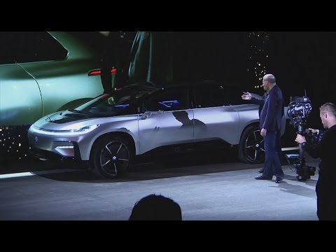 Thumbnail: Awkward moment Faraday Future 'self-parking' car fails live demo