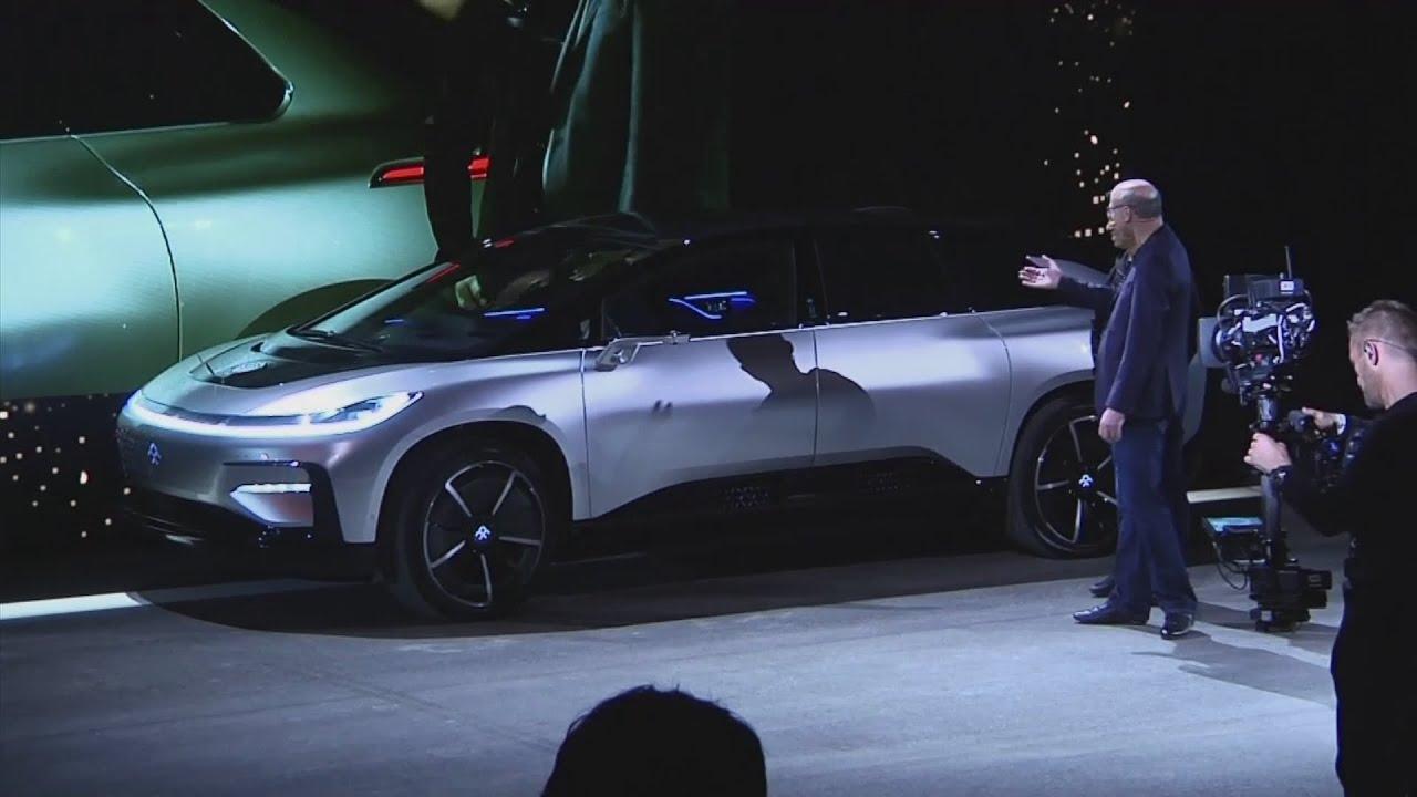 Awkward Moment Faraday Future Self Parking Car Fails Live Demo