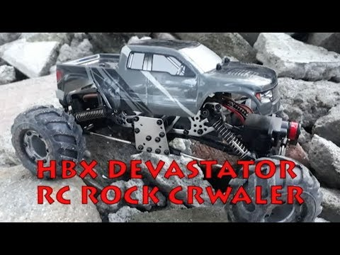 hbx devastator 1 24 rc crawler test ride youtube. Black Bedroom Furniture Sets. Home Design Ideas