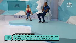 RENATA E DENÍLSON ANALISAM GOLEADA DO FLAMENGO SOBRE O CORINTHIANS | JOGO ABERTO