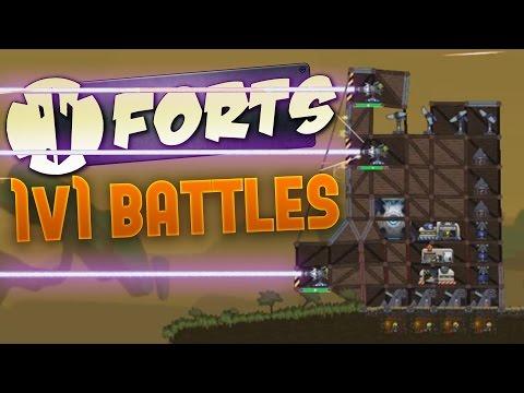 Forts - Triple Laser Attack! - 1v1...